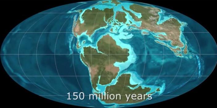 600 миллионов лет за полторы минуты