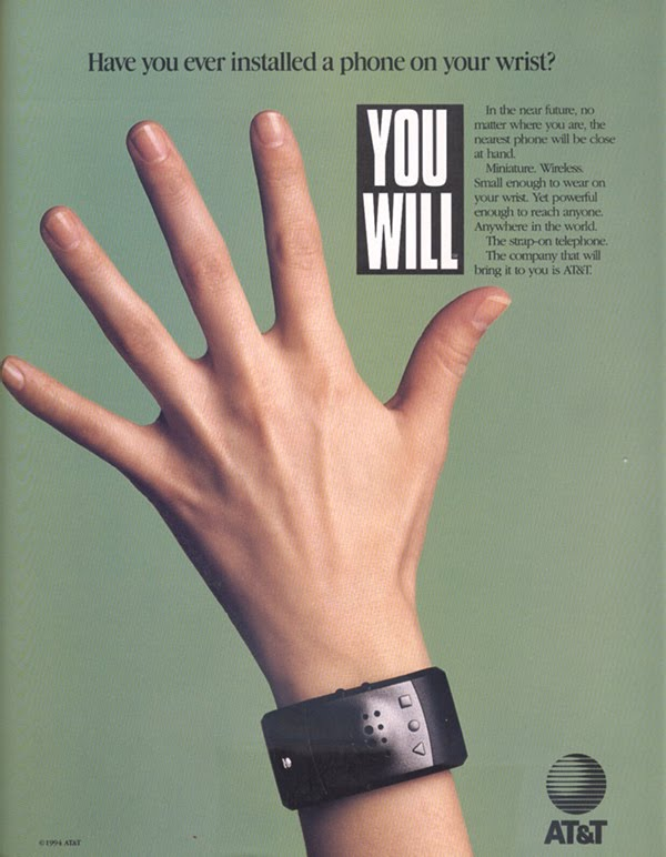 Телефон-браслет в 1995 году
