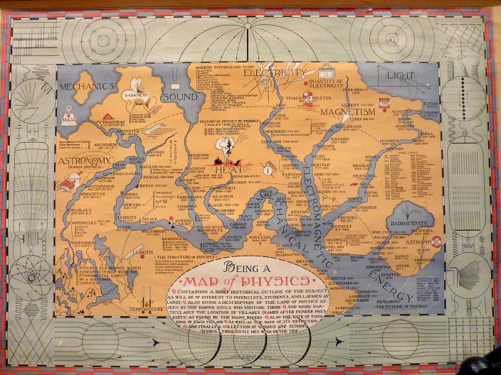 Карта физики 1939 года