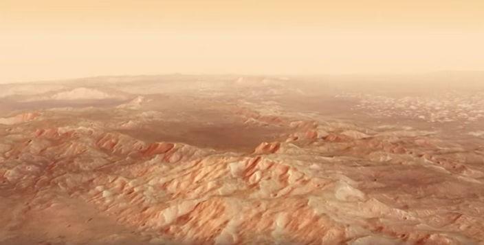 Пролетая над Марсом