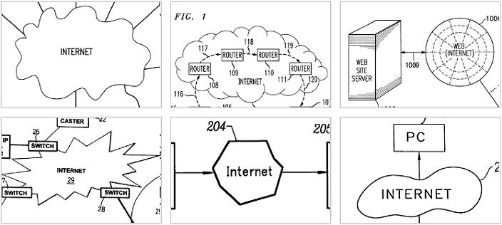 Как авторы патентов изображали интернет