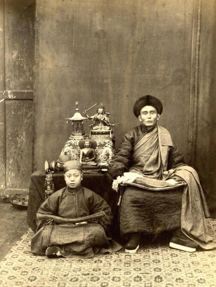 Монгольский лама с учеником