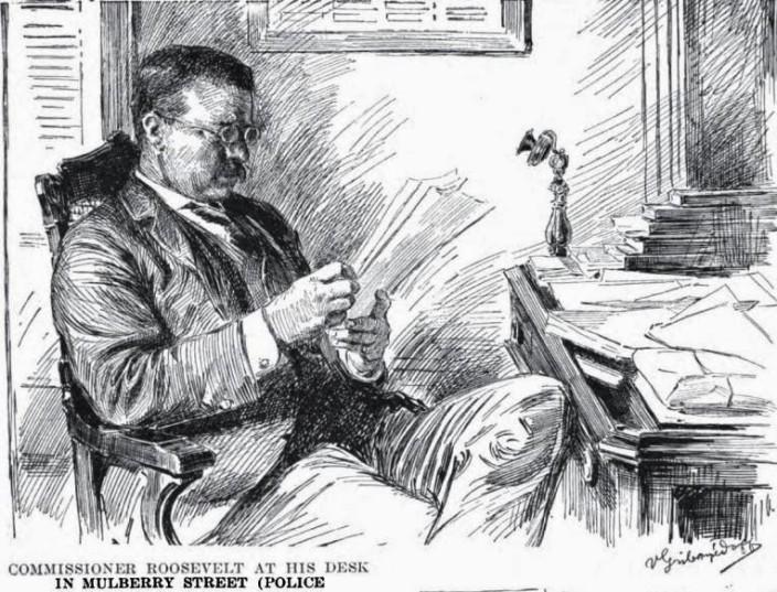Теодор Рузвельт в кабинете